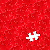 Jigsaw puzzle with one missing piece — 图库矢量图片