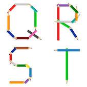 Kolorowe kredki alfabet — Wektor stockowy