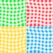 Vector Tablecloth Patterns — Cтоковый вектор