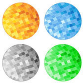 Vector Abstract Tile Circles — Stock Vector
