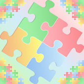 Puzzle background — Vettoriale Stock