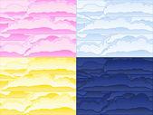 雲の背景のベクトル — ストックベクタ
