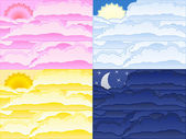 Vector clouds backgrounds — Stock Vector