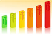 Vector Bar Graph — Stock Vector