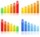 Vector Bar Graphs — Stock Vector