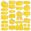 Set of Yellow Price Tags — Imagen vectorial