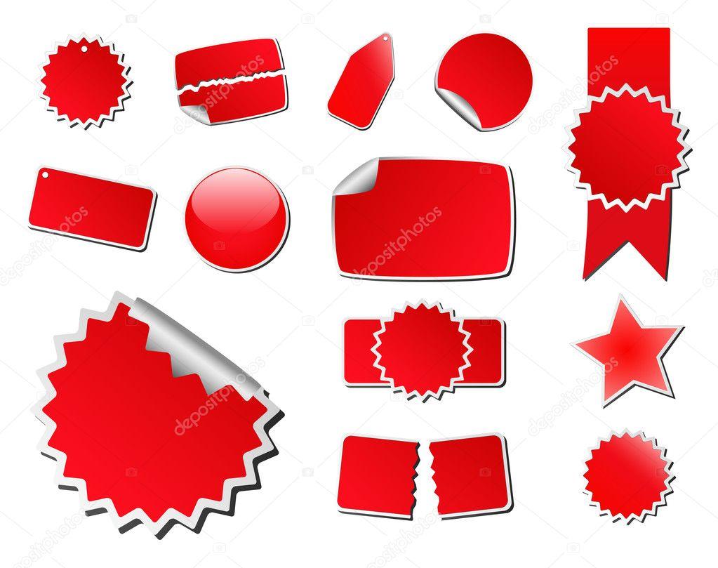 Etiquetas De Precios Vector Rojo