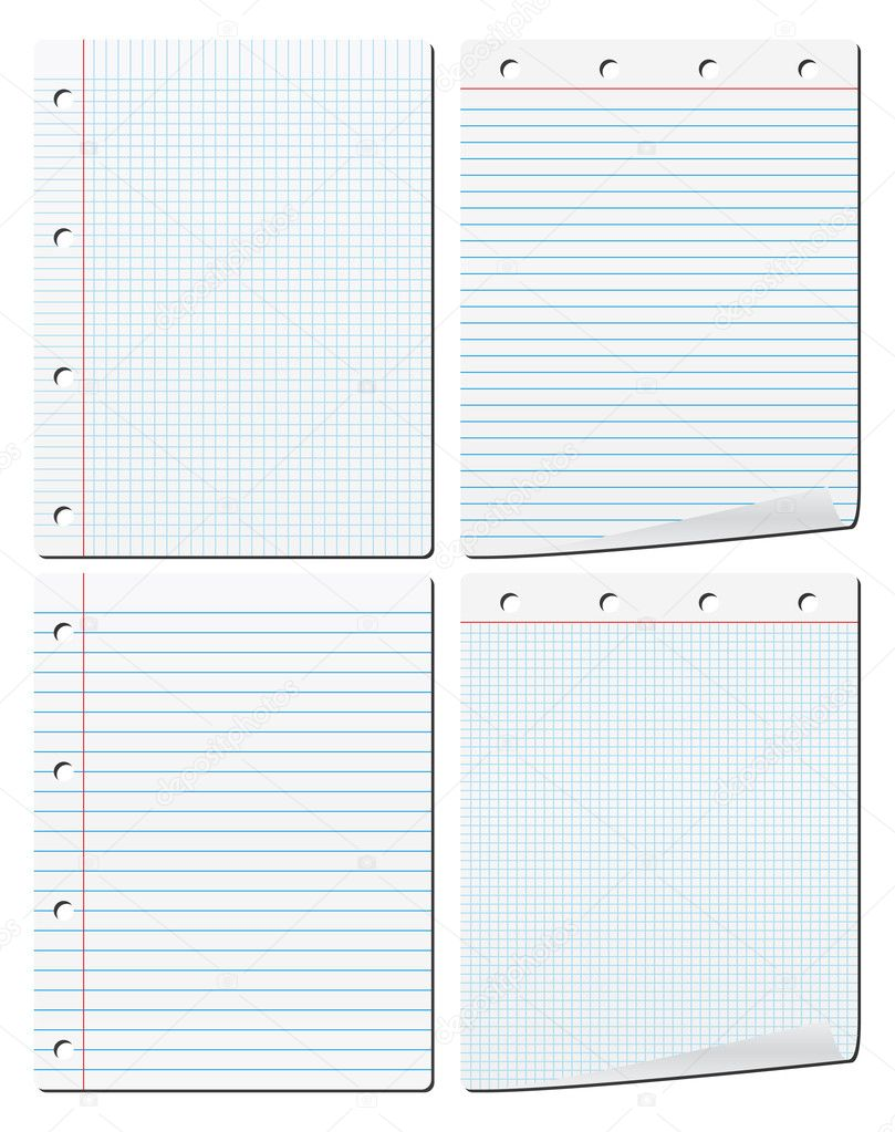 Set of vector paper on white background  Stock Vector #6263813