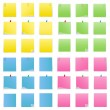 Vector Post-it Notes - Stock Vector