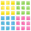 Vector Post-it Notes - Vettoriali Stock