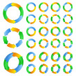 Vector circles with arrows — Stock Vector