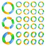 Vector circles with arrows — Stock Vector