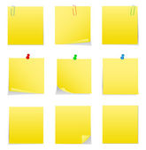 Vector Post-it Notes — Stock Vector