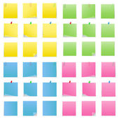 Vector Post-it Notes — Vettoriale Stock