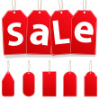 Vector Hanging Sale Tags — Stock Vector #6482961