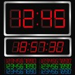 Vector Digital Clock — Stock Vector