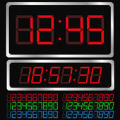 Vector Digital Clock — Stok Vektör