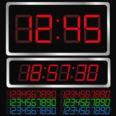 Vektorové digitální hodiny — Stock vektor