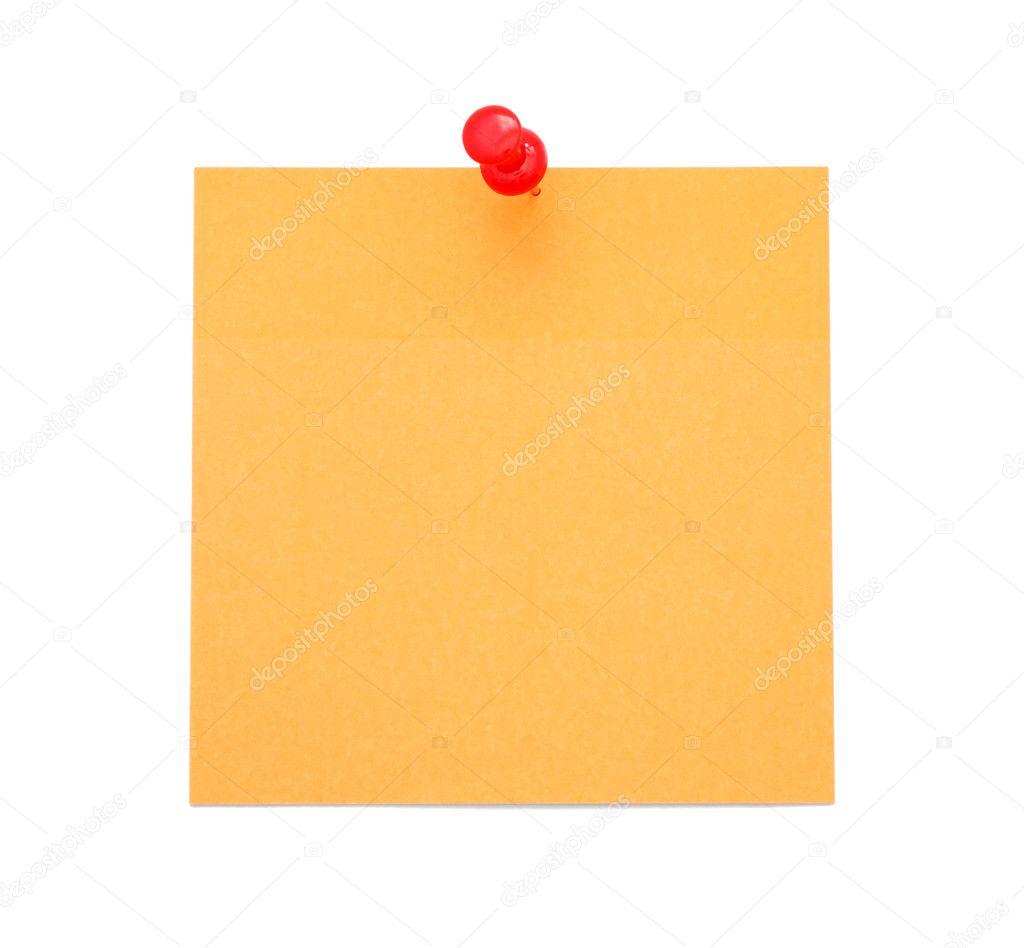 Blank Orange Paper Note Stock Photo 169 Human 306 6535083