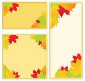 Vector Autumn Frames — Stock Vector