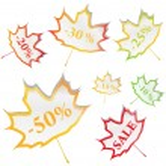 Maple Stickers — Stock Vector #6681178
