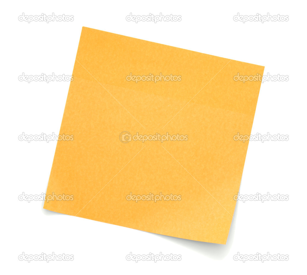 Blank Orange Post-It Note — Stock Photo © human_306 #6722079
