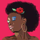 Afro woman — Stock Vector