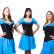Irish dancers — Stockfoto
