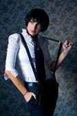 Gangster girl — Stock Photo