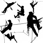 Rock climbers silhouette collection - vector — Stock Vector