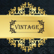 Royalty-Free Stock Векторное изображение: Vintage menu vector background with golden elements