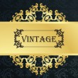 Royalty-Free Stock Vektorový obrázek: Vintage menu vector background with golden elements