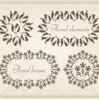 Vintage frames and elements illustration - Stock Vector