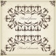 Vintage set of calligraphic elements, frames and borders — Stock Vector