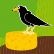 Crow vector background — Imagen vectorial