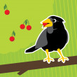 ストックベクタ: Crow vector background
