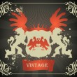 Vector de stock : Coat of arms vector background