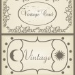 Vintage brown label frame vector background — Stock Vector