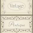 Royalty-Free Stock Vektorgrafik: Vintage brown label frame vector background