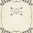 Vintage vector decorative frame for book cover or card background — Stock Vector