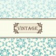 Vintage vector decorative frame for book cover or card background — Stock Vector #6744544