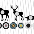 Royalty-Free Stock Vector Image: Animated shooting range hunting targets set illustration