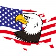 Royalty-Free Stock Vector Image: Patriotic American bald eagle