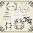 Vintage vector background card or book cover element — Stock Vector #6745023