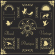 Royalty-Free Stock Vector Image: Vintage frames and elements illustration collection vector