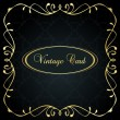 Luxury golden vintage background — Stock Vector