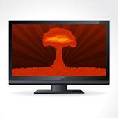 Atomic explosion cloud formed mushroom — Stock Vector