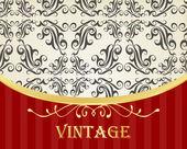 Luxury golden vintage background — Stock Vector