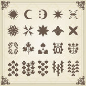 Vintage set of calligraphic elements, frames and borders — Stok Vektör
