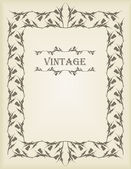 Vintage wedding frame — Vector de stock